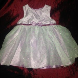 """Holiday edition"" lavender party dress 6-9months"